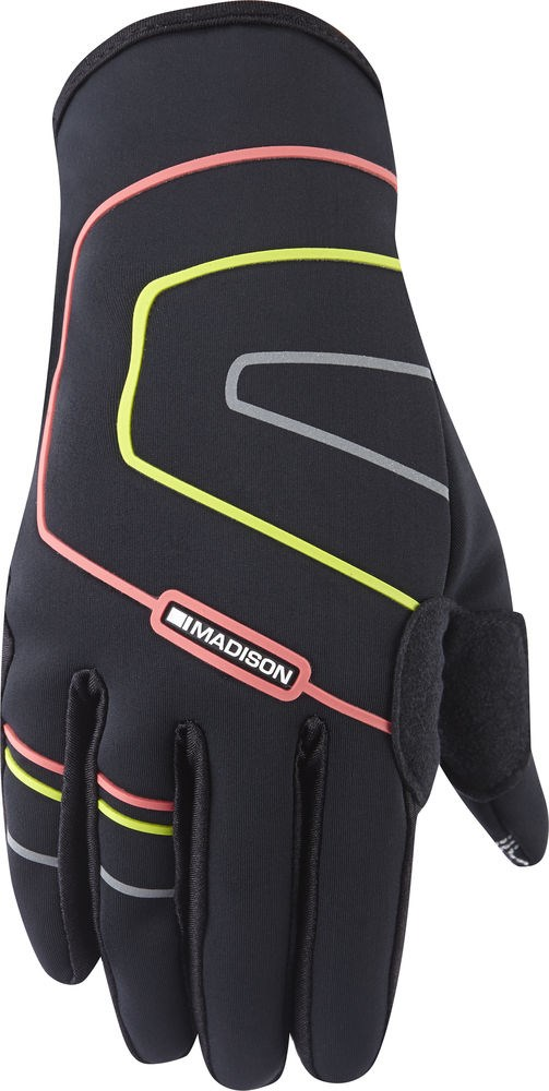 Madison Element womens gloves, black / coral