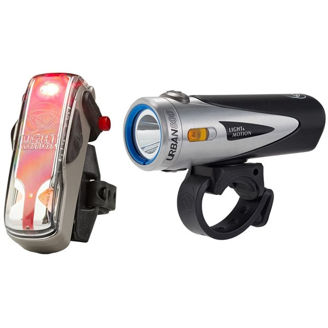 Light and Motion Urban 800 and Vis 180 Cycle Bike Light Set