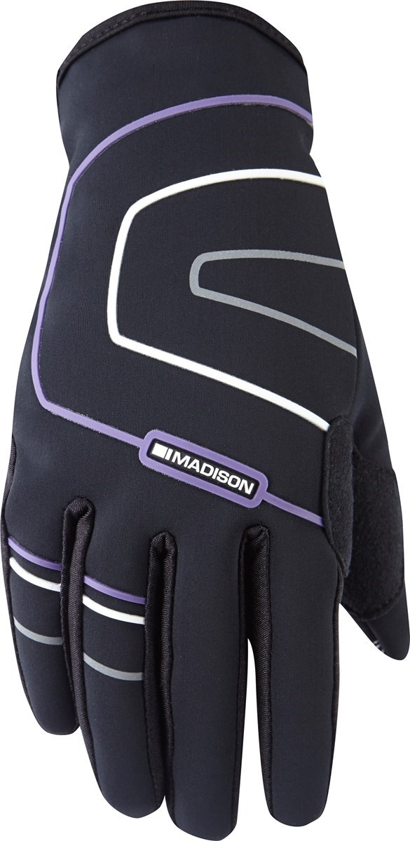 Madison Element womens gloves, black / loganberry