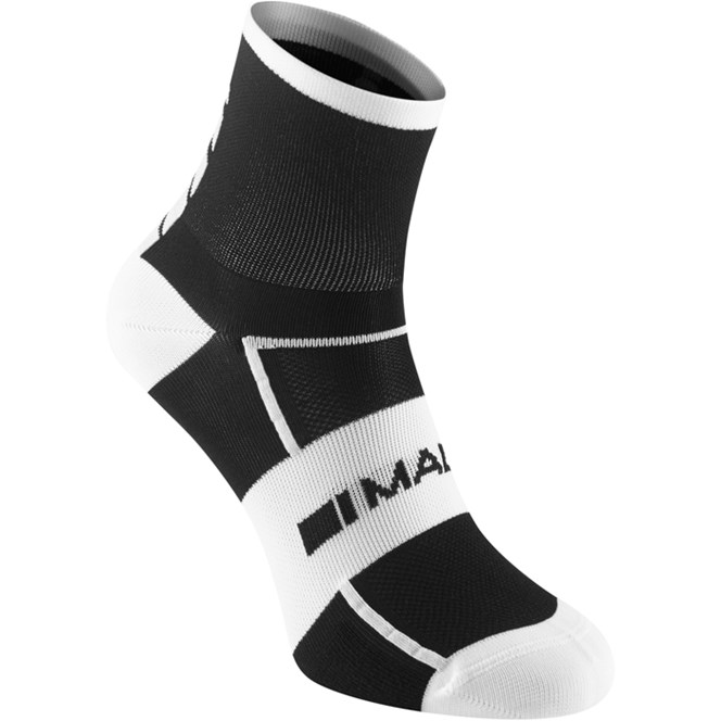 Madison Sportive Mid Sock Twin Pack Black/White