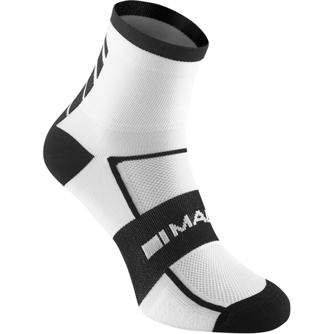 Madison Sportive Mid Sock Twin Pack White/Black