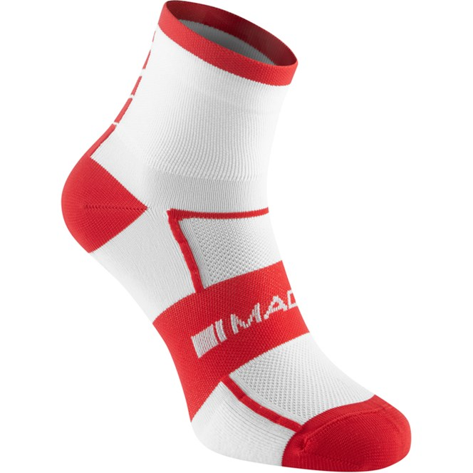 Madison Sportive Mid Sock Twin Pack White/Flame Red