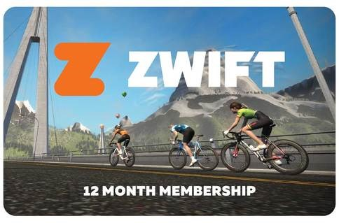 Zwift 12 Month Membership Card